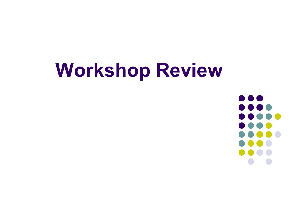 Workshop Review