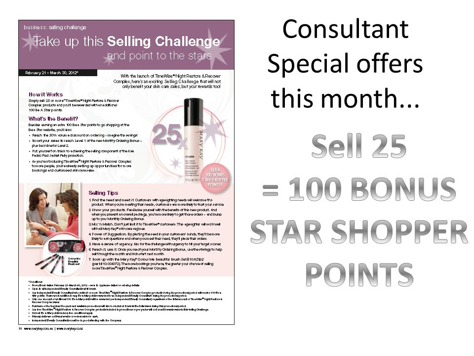 Consultant Special offers this month...