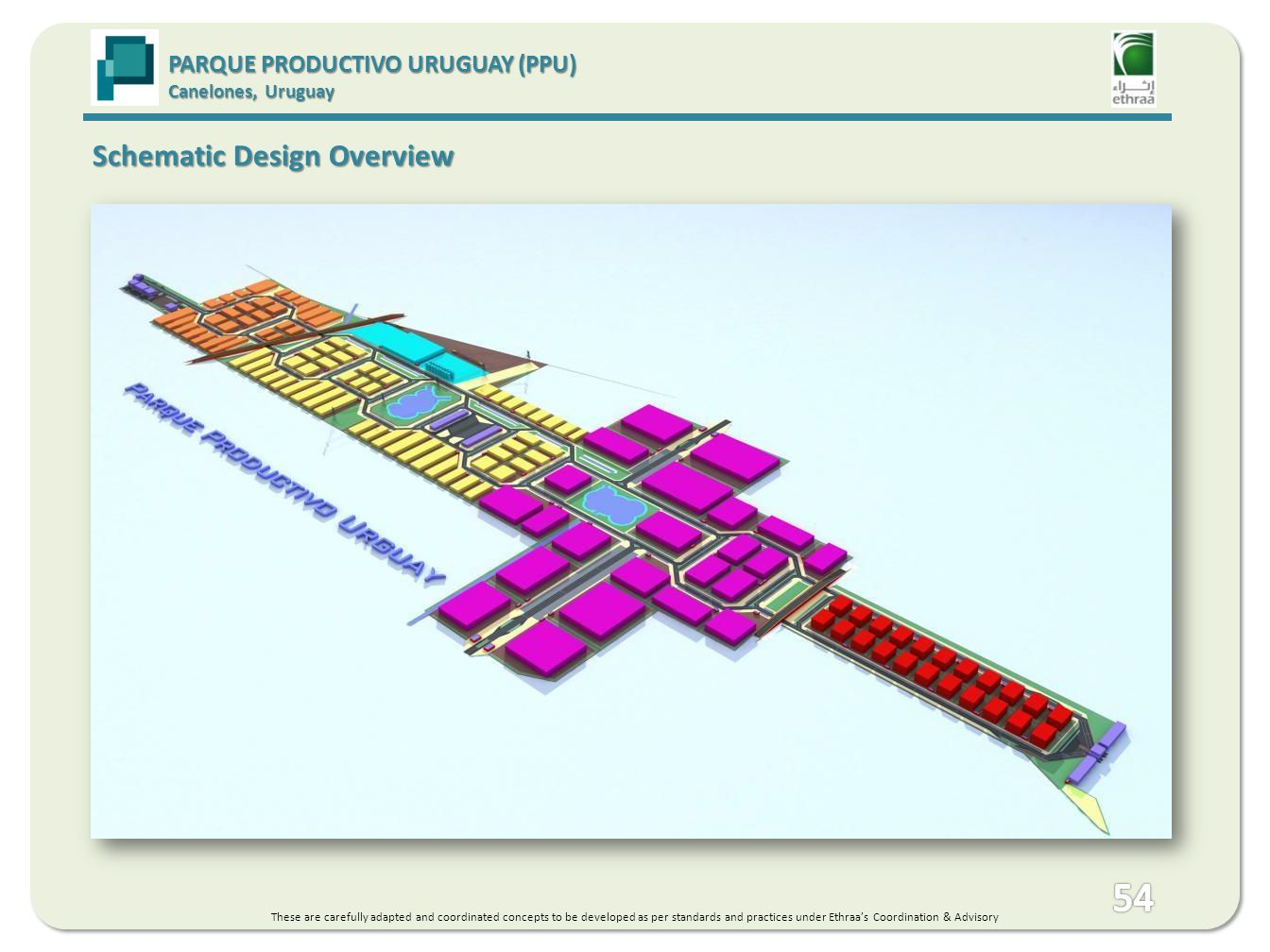 PARQUE PRODUCTIVO URUGUAY (PPU) Canelones, Uruguay Schematic Design Overview These are carefully adapted and coordinated concepts to be developed as per standards and practices under Ethraas Coordination & Advisory