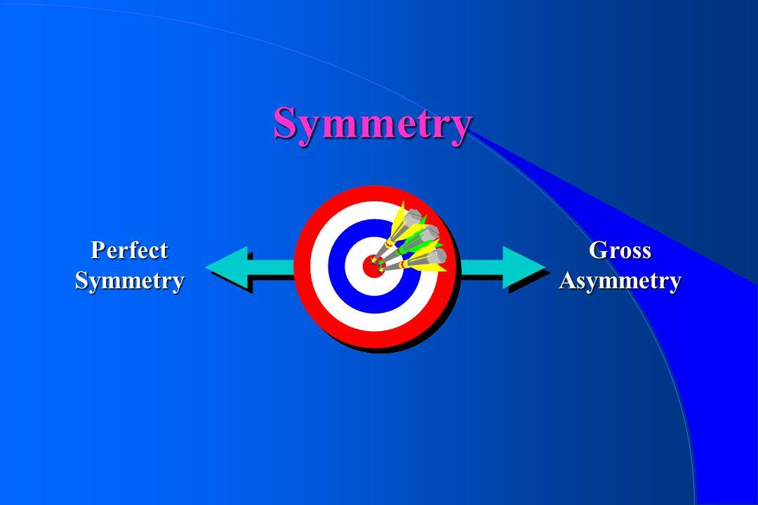 Symmetry Perfect Symmetry Gross Asymmetry