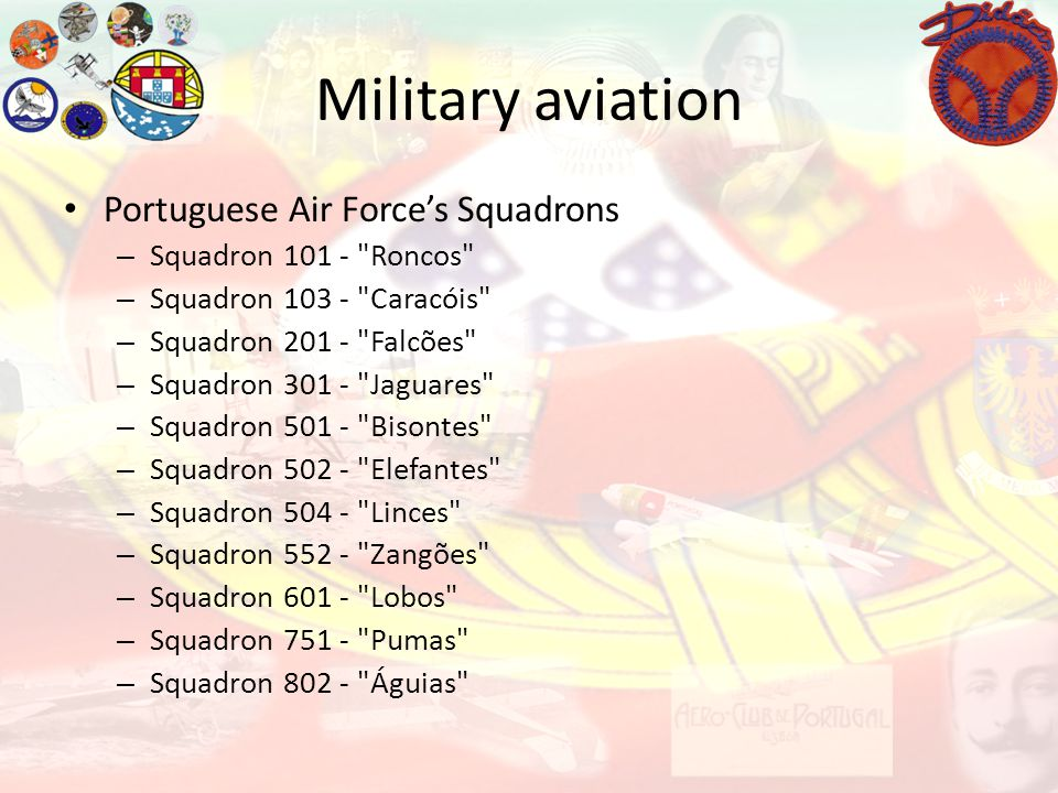 Military aviation Portuguese Air Forces Squadrons – Squadron 101 -