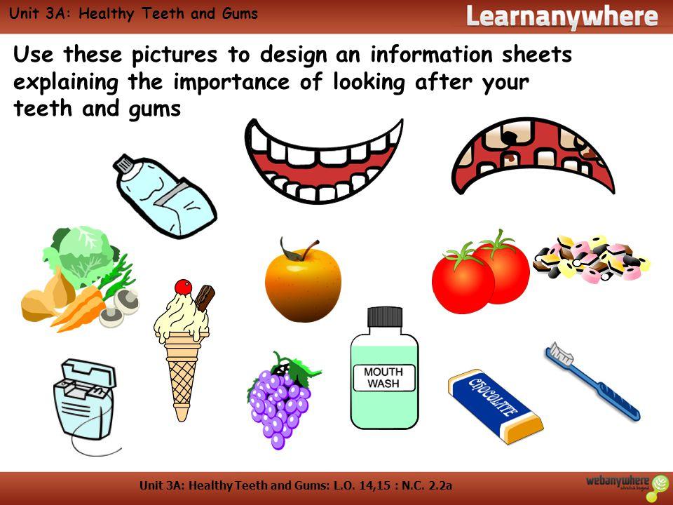 Unit 3A: Healthy Teeth and Gums: L.O. 14,15 : N.C.