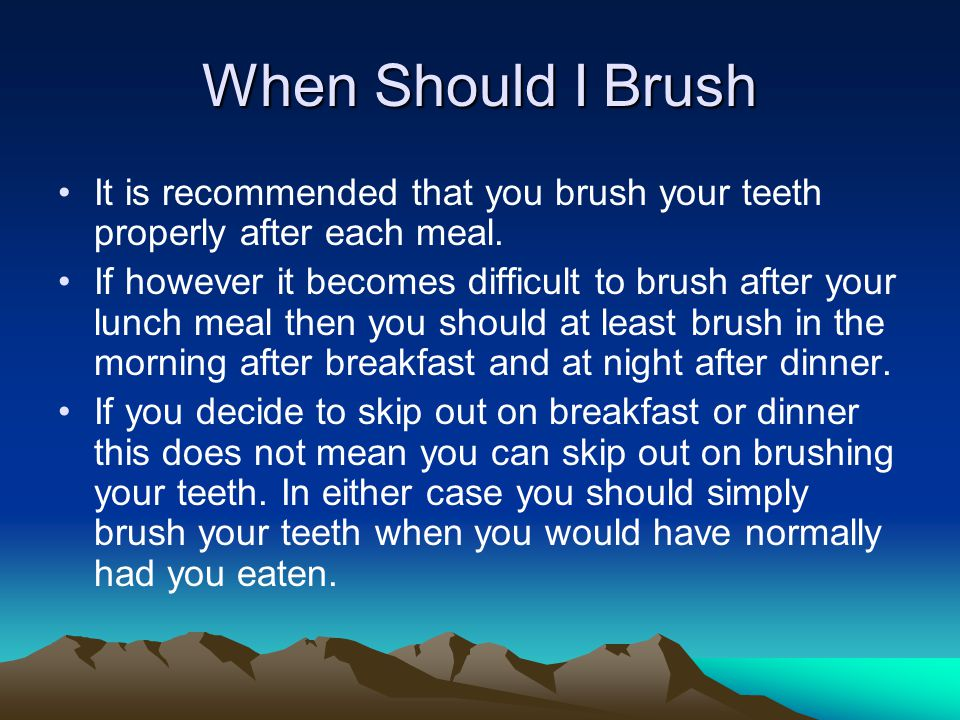 What Happens if I Dont Brush Brushing your teeth helps to prevent cavities, bad breath, receding gums, gum disease, Periodontal disease, and ultimately tooth loss by getting rid of plaque and tartar build up on your teeth.