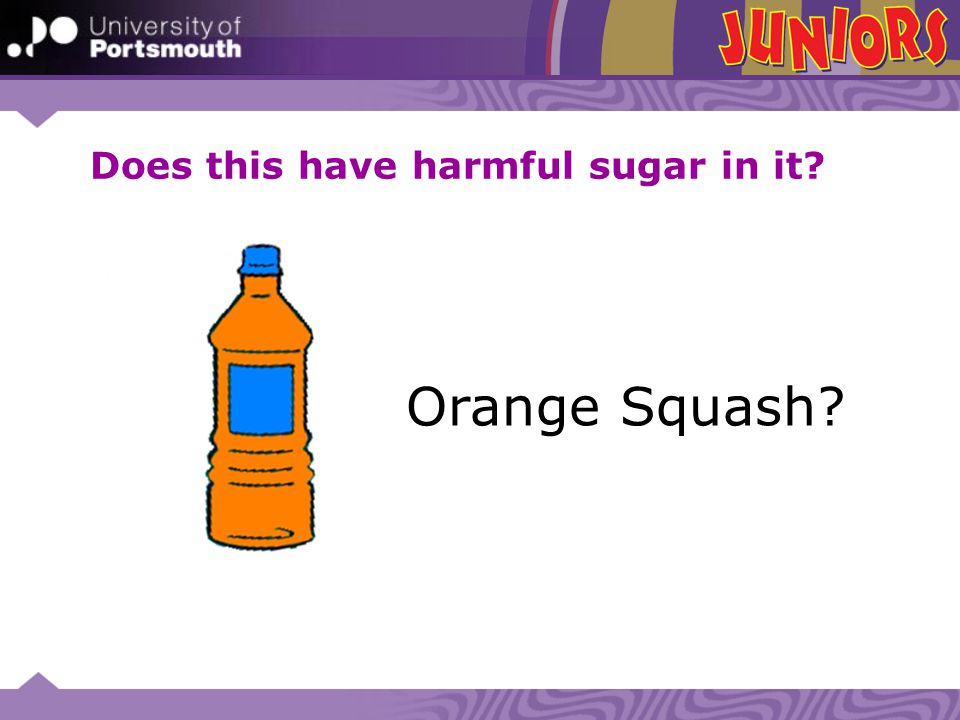 Orange Squash? Does this have harmful sugar in it?
