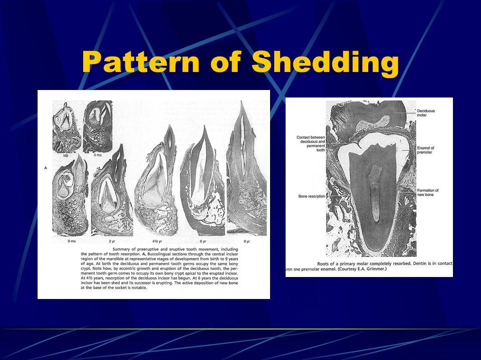 Pattern of Shedding