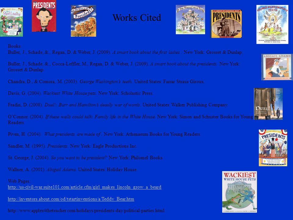 Works Cited Books: Buller, J., Schade, &., Regan, D.