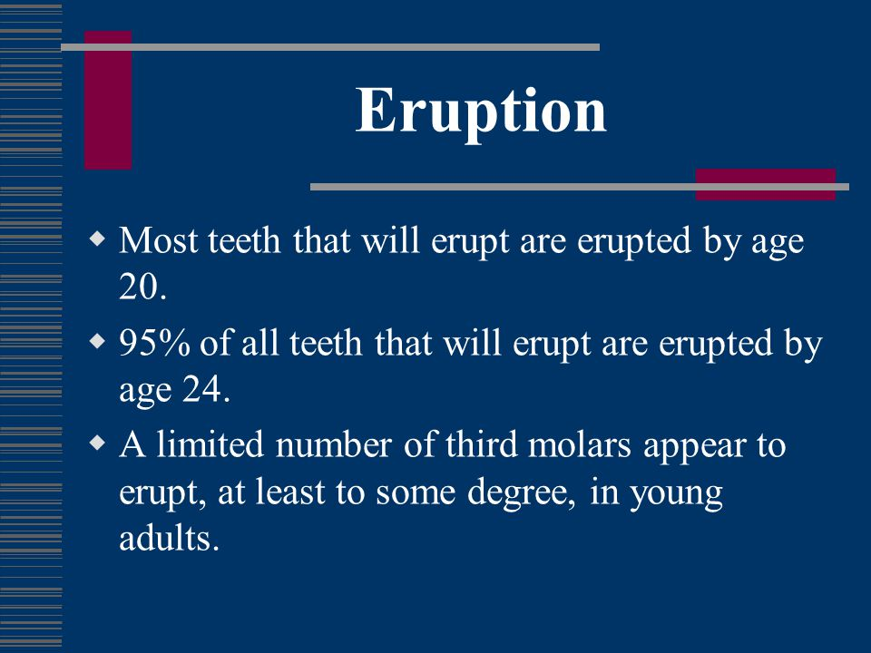 Predicting Eruption – Who Cares.Does it matter if a wisdom tooth erupts.