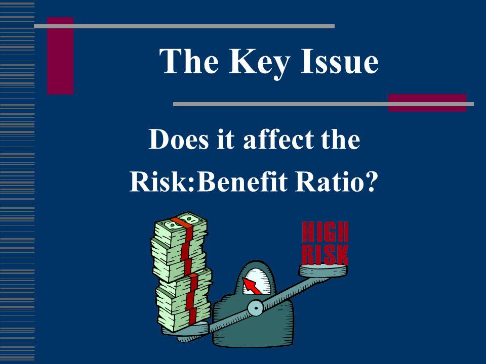 Evaluating Risk:Benefit