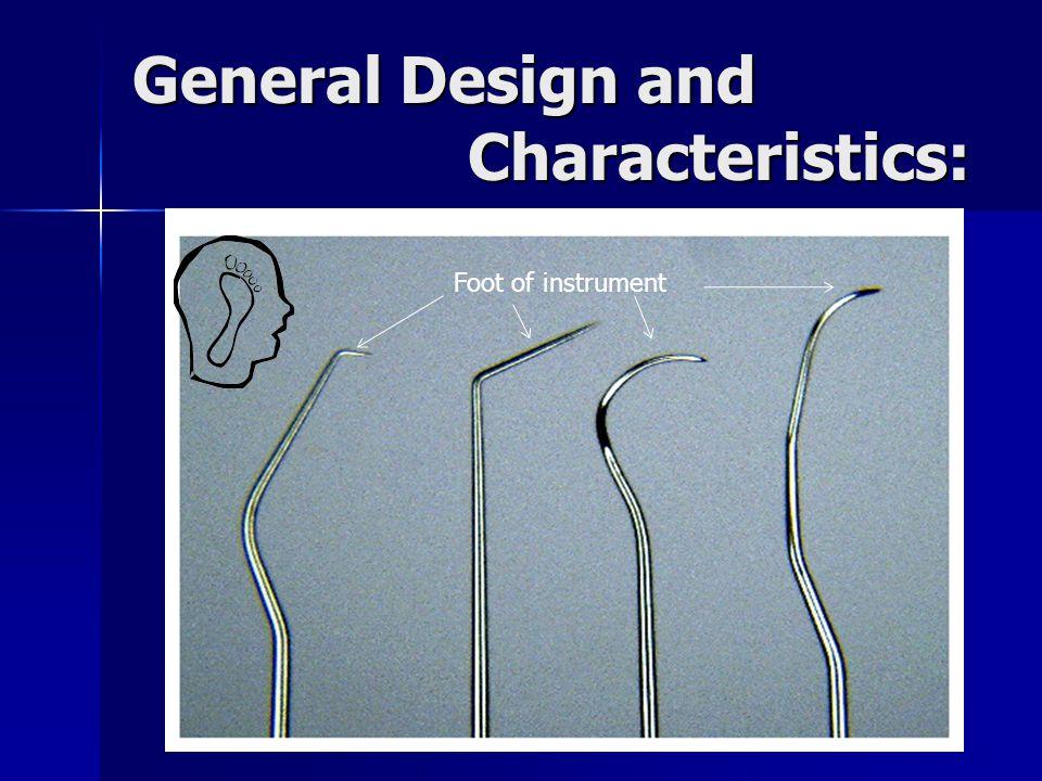 General Design and Characteristics: Foot of instrument