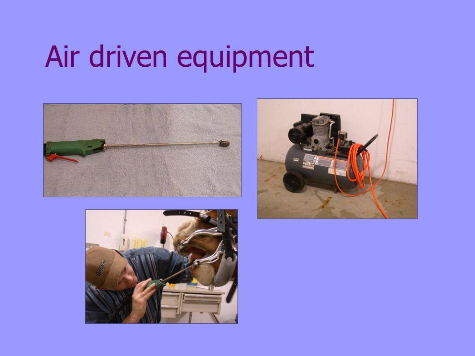 Air driven equipment