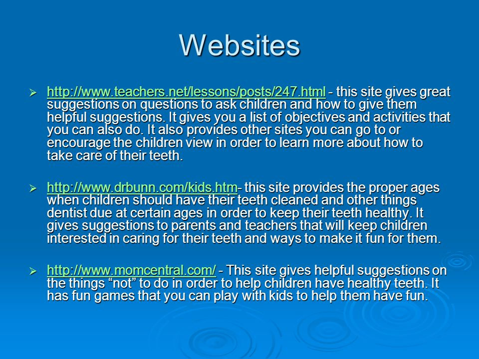 Websites http://www.teachers.net/lessons/posts/247.html - this site gives great suggestions on questions to ask children and how to give them helpful suggestions.