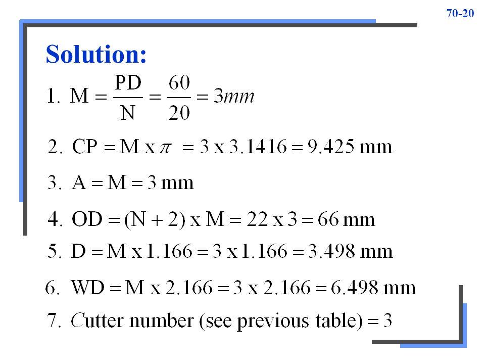 70-20 Solution: