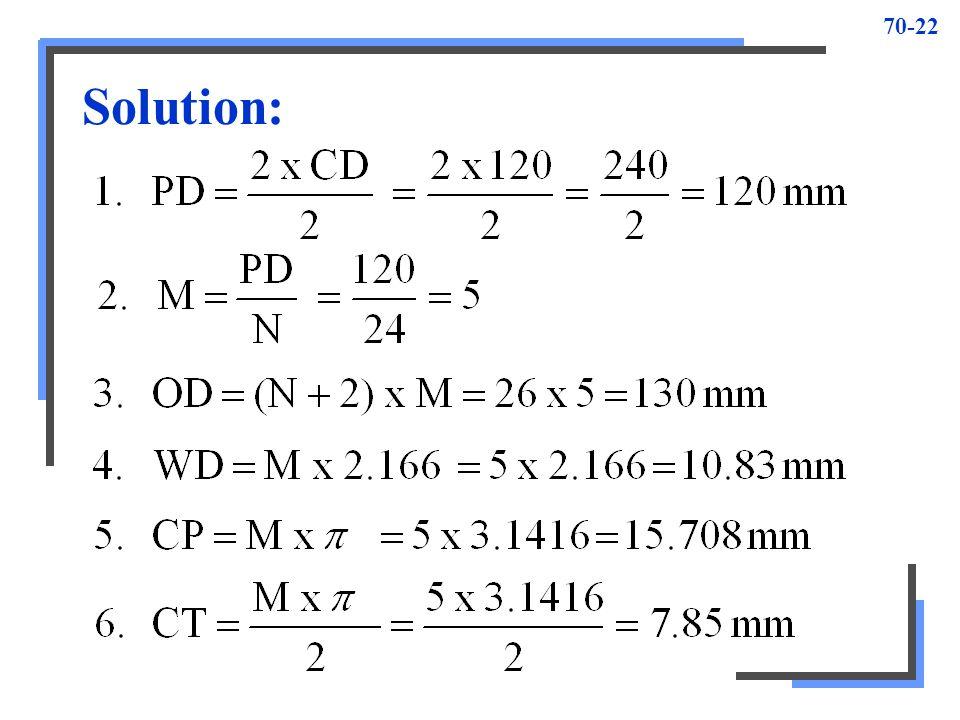 70-22 Solution: