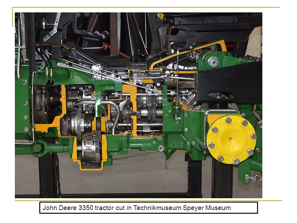 John Deere 3350 tractor cut in Technikmuseum Speyer Museum