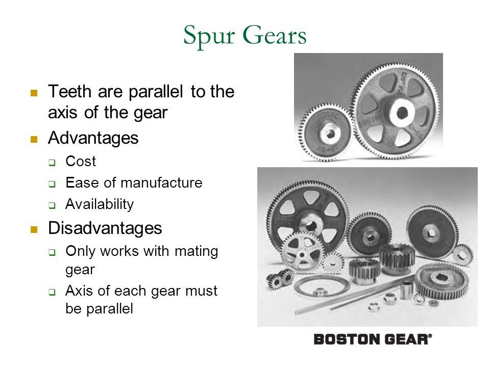 Standard Spur Gears (Boston Gear Catalog)
