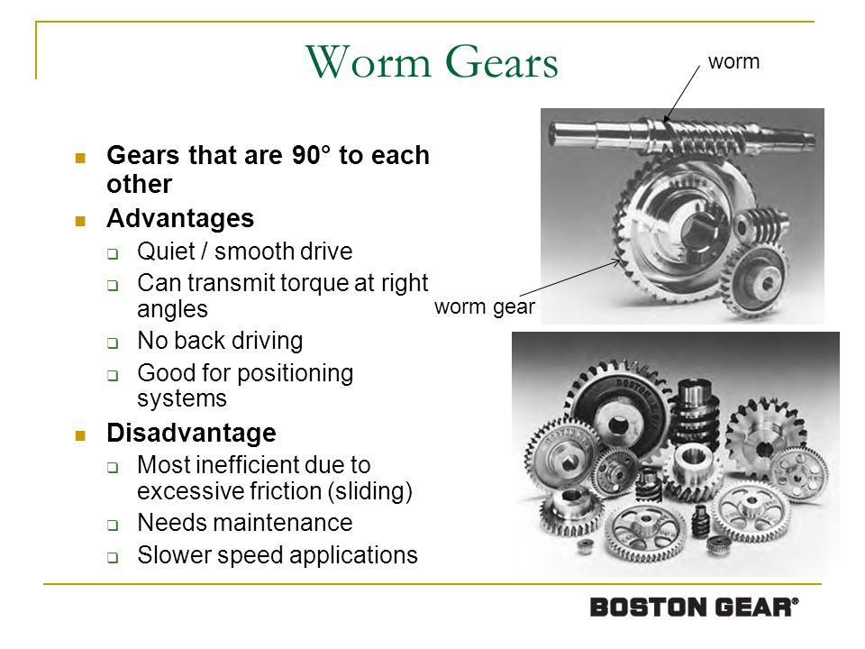 Gear Formulas Courtesy of Boston Gear (contd)