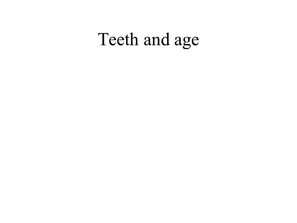 Teeth and age