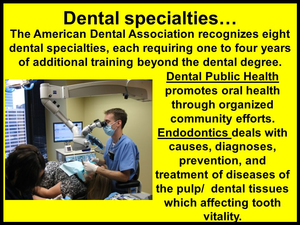 A dentist diagnoses and treats diseases of the teeth, their supporting tissues, tongue, lips, and jaws; restores teeth damaged by decay or trauma; rep