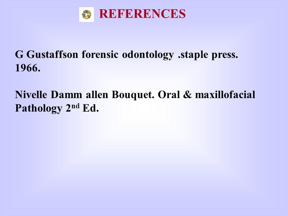 G Gustaffson forensic odontology.staple press.1966.