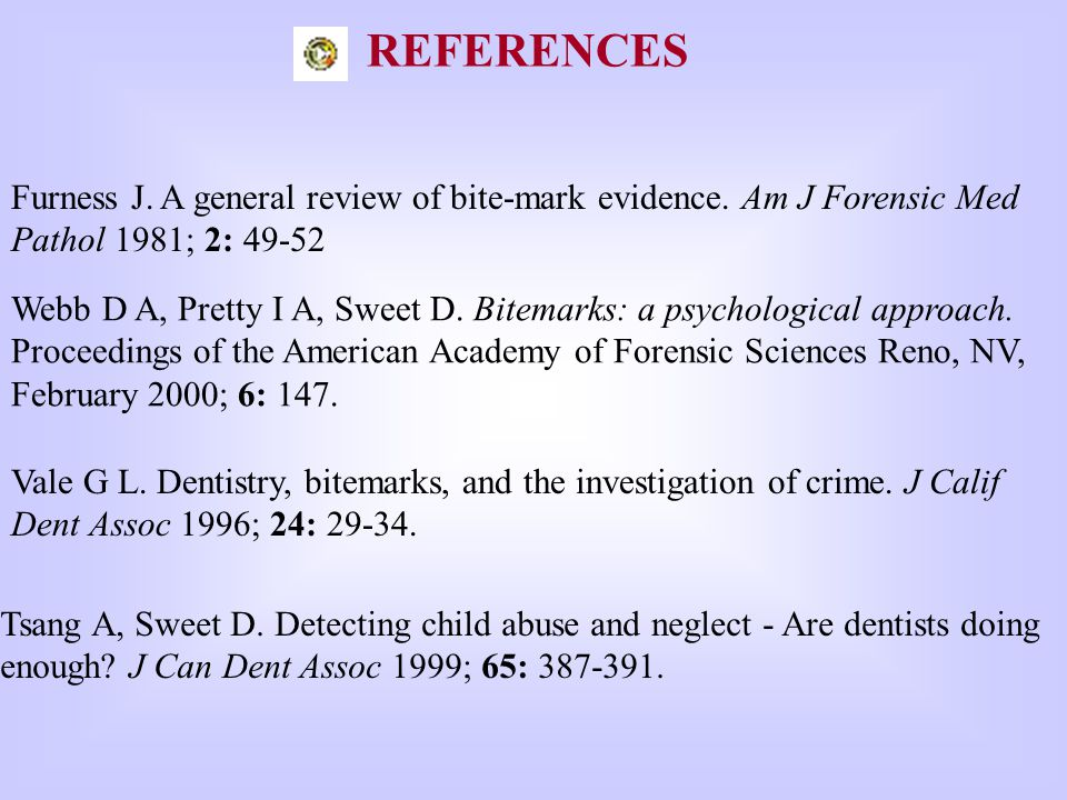 Furness J.A general review of bite-mark evidence.