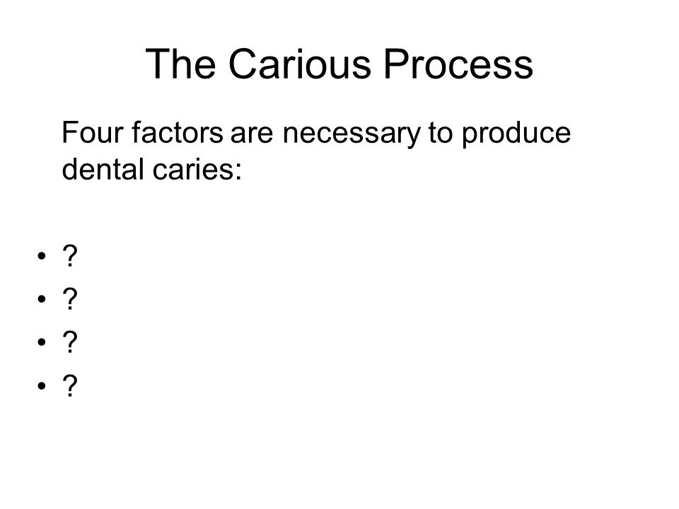 Dental caries is: a disease of the calcified tissues of the teeth caused by the action of micro-organisms on fermentable carbohydrates characterised by demineralisation of the mineral portion of enamel and dentine followed by disintegration of their organic material