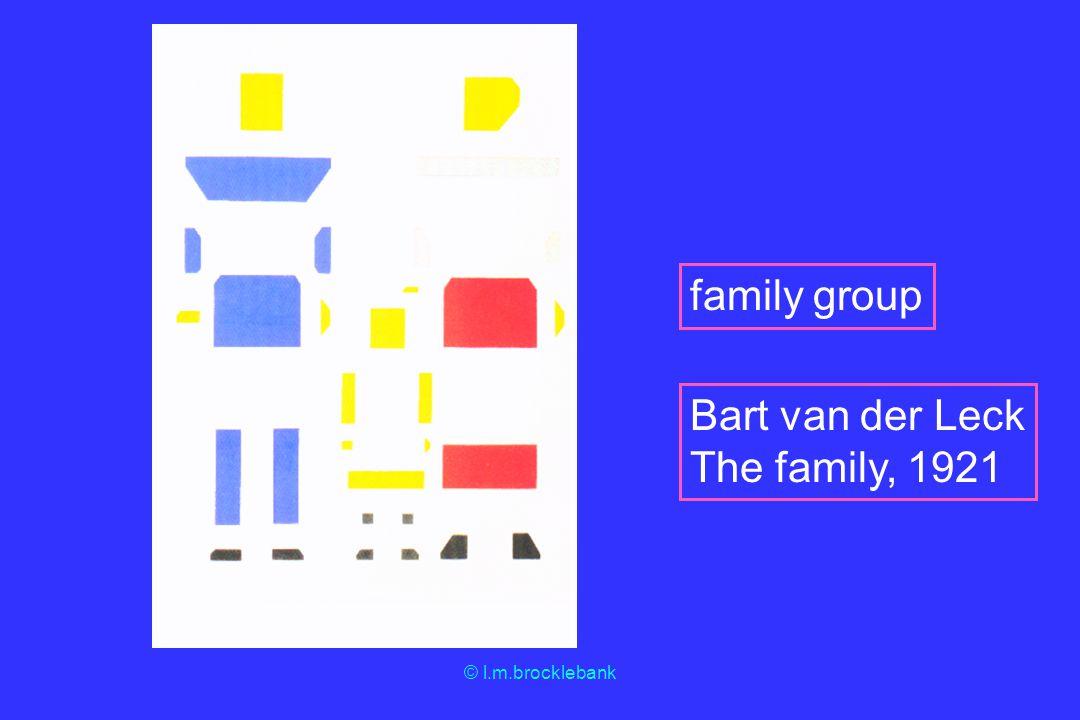 © l.m.brocklebank family group Bart van der Leck The family, 1921