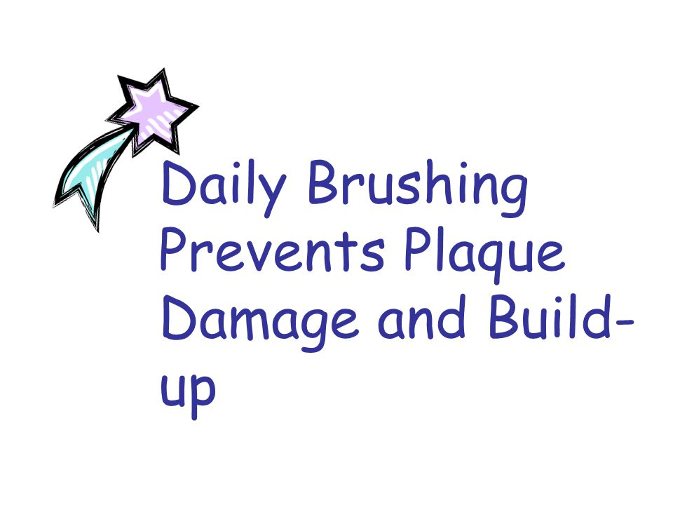 Daily Brushing Prevents Plaque Damage and Build- up