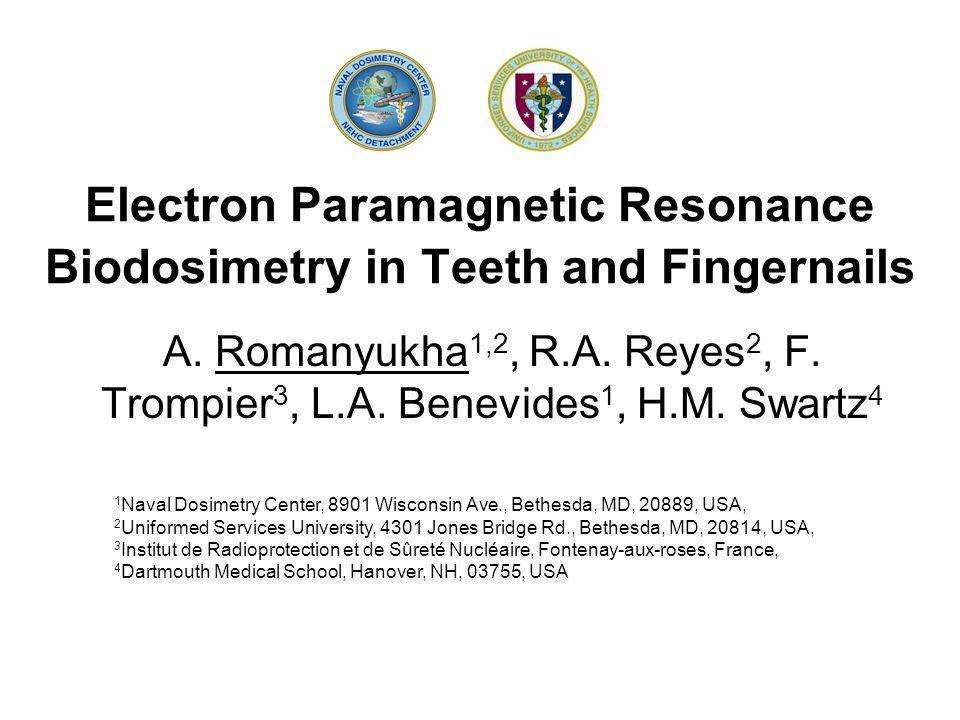 Electron Paramagnetic Resonance Biodosimetry in Teeth and Fingernails A.