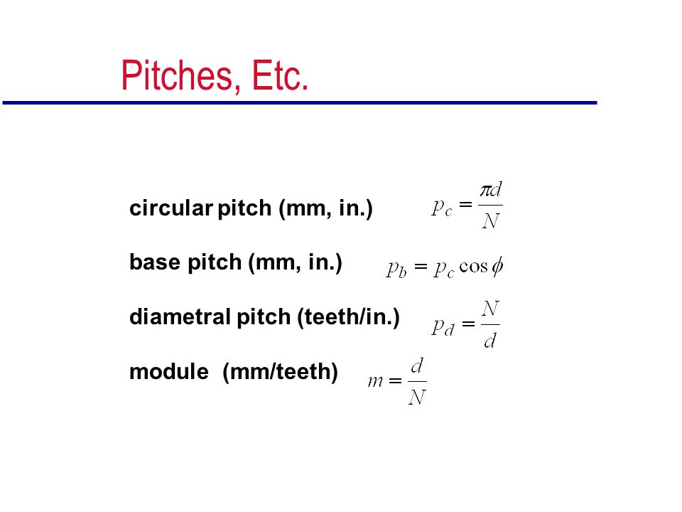 Dynamic (Velocity) Factor JKvKmKaKsKBKIJKvKmKaKsKBKI to account for tooth-tooth impacts and resulting vibration loads from Figure 11-22 or from Equations 11.16-11.18 (pages 718-719) Inputs needed: Quality Index (Table 11-7) Pitch-line Velocity V t = (radius)(angular speed in radians)