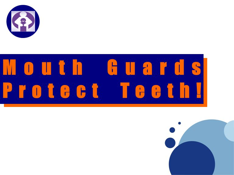 Company LOGO Mouth Guards Protect Teeth!