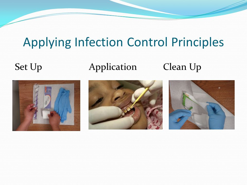 Applying Infection Control Principles Set Up Application Clean Up