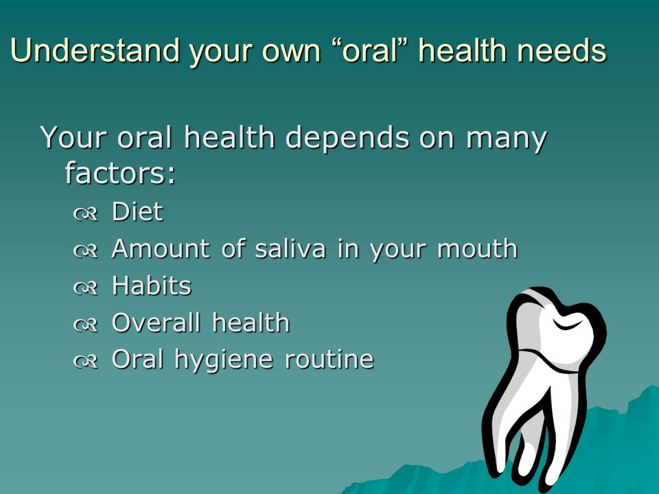 Commit to a daily oral health routine Follow a daily routine -- come up with a teeth brushing routine thats easy to follow Follow a daily routine -- come up with a teeth brushing routine thats easy to follow