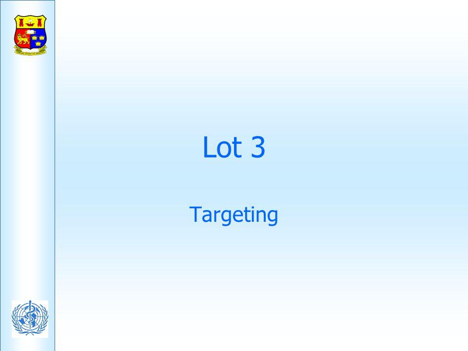 Lot 3 Targeting