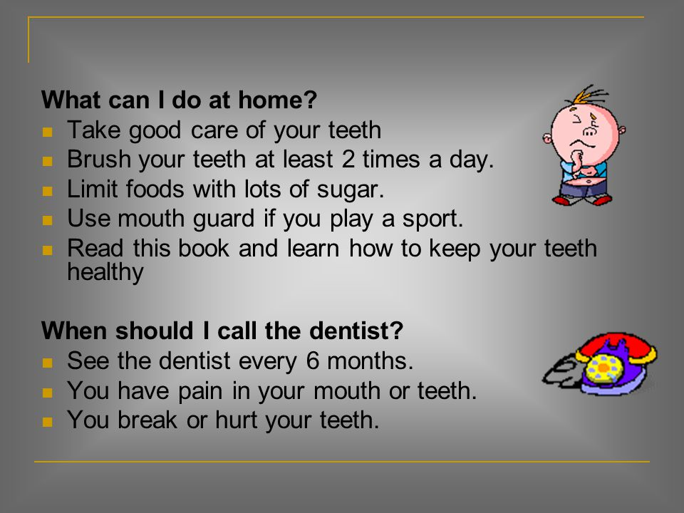 Teeth (page 9) What is it? You use them to bite and chew food. Incisors (cut) Canines, fang teeth or eye teeth (rip and tear) Bicuspids (crush) Molars