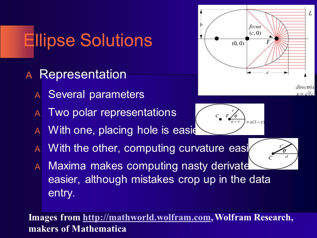 Ellipse Solutions: Placing Teeth Perimeter and arc length contain elliptic integrals.