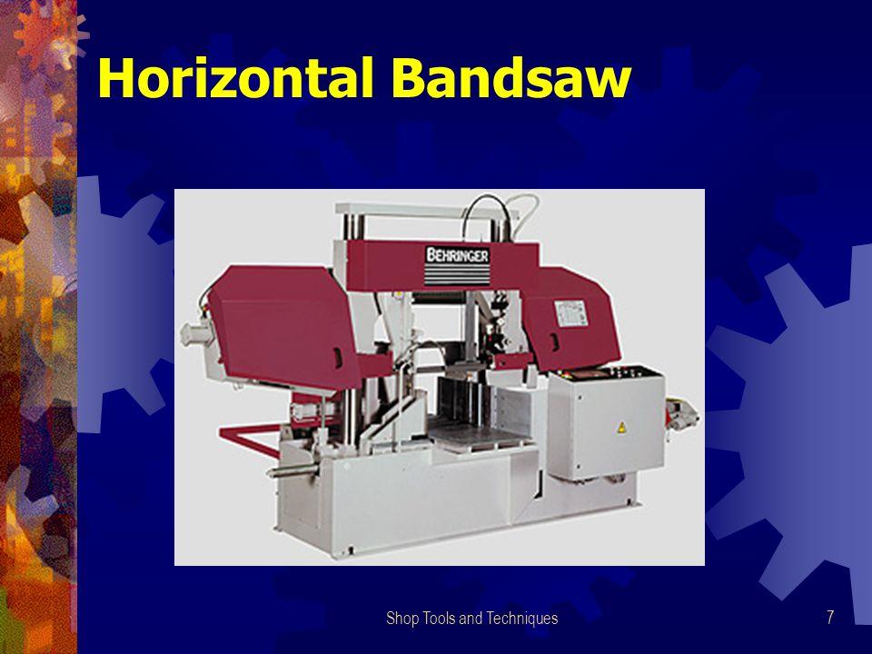 Shop Tools and Techniques7 Horizontal Bandsaw