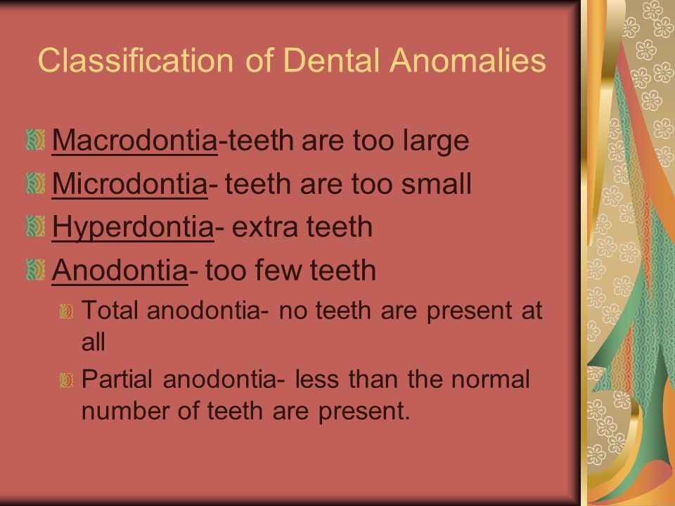 Most common missing permanent teeth are: Third molars More often the maxillary thirds more than the mandibular thirds.