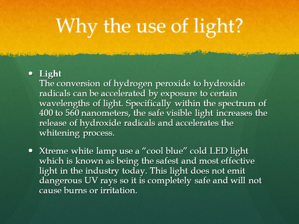 Why the use of light.