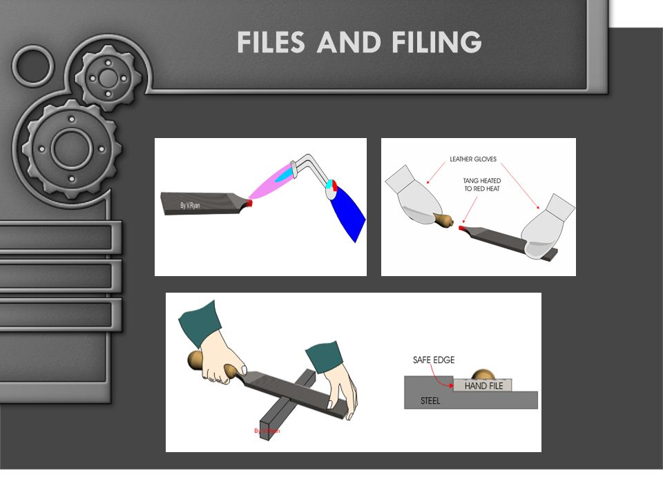 CROSS FILING IS A METHOD OF FILING IN WHICH THERE ARE TWO SERIES OF STROKES CROSSING EACH OTHER AT AN ANGLE OF APPROXIMATELY 90 DEG.