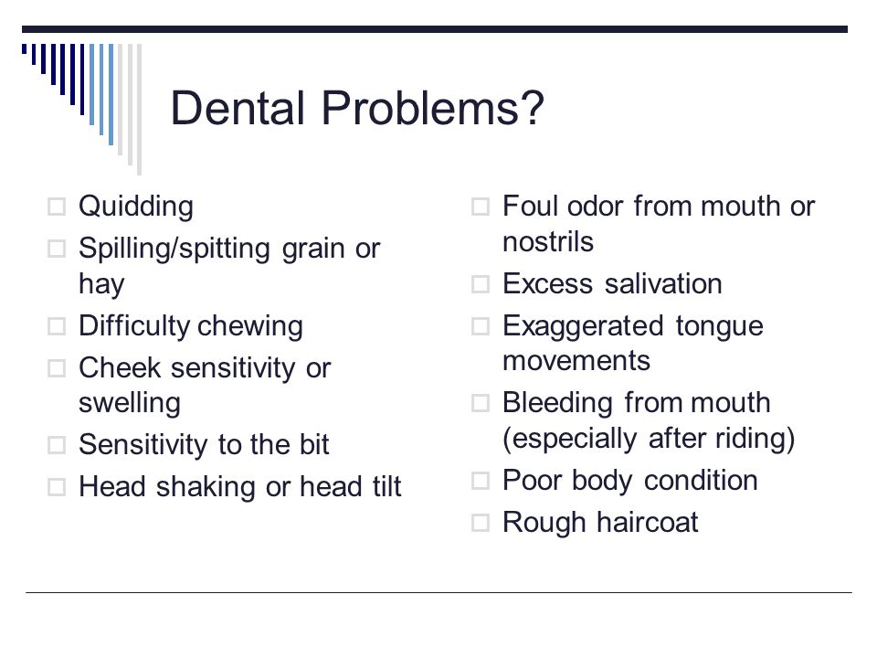 Dental Problems.