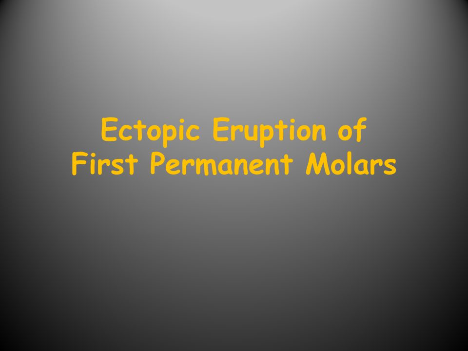 Definition and Significance A condition in which the permanent first molar assumes a path of eruption that intercepts the distal root of the second primary molar causing its resorption with the potential to cause premature of the second primary molar.
