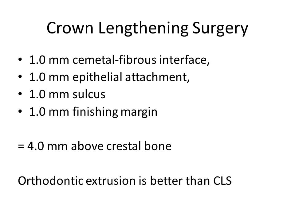 How long before a crown Review in 6 months to check for healing.