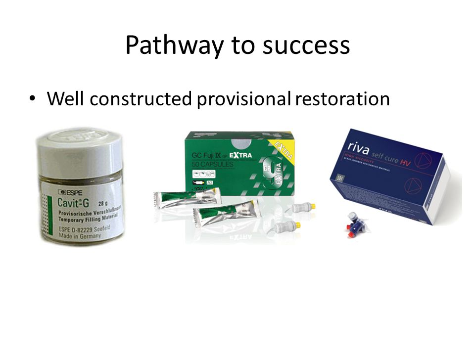 Well constructed provisional restoration Pathway to success