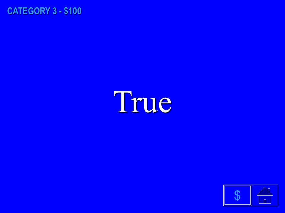 CATEGORY 2 - $500 C. Blue $