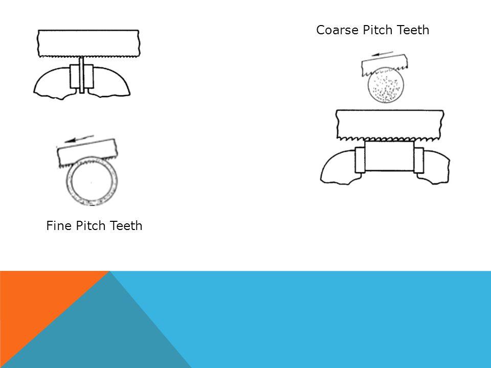 Fine Pitch Teeth Coarse Pitch Teeth