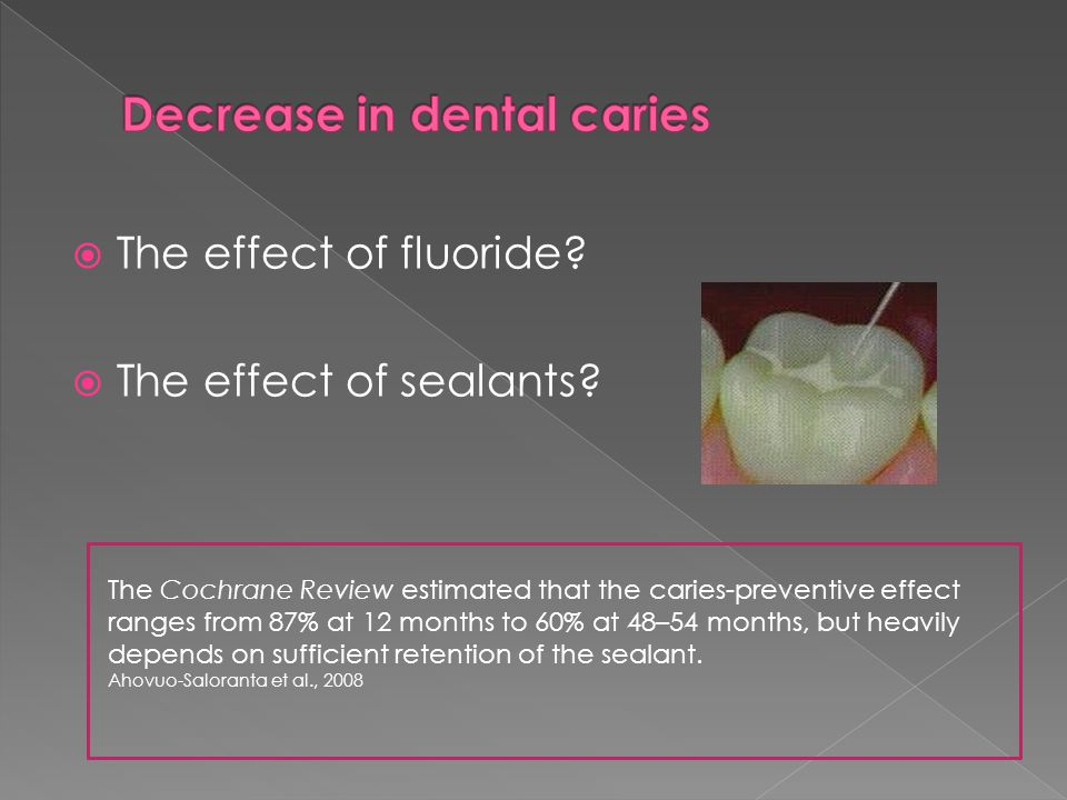Tooth brushing with fluoridated toothpaste is the first choice to control caries development.