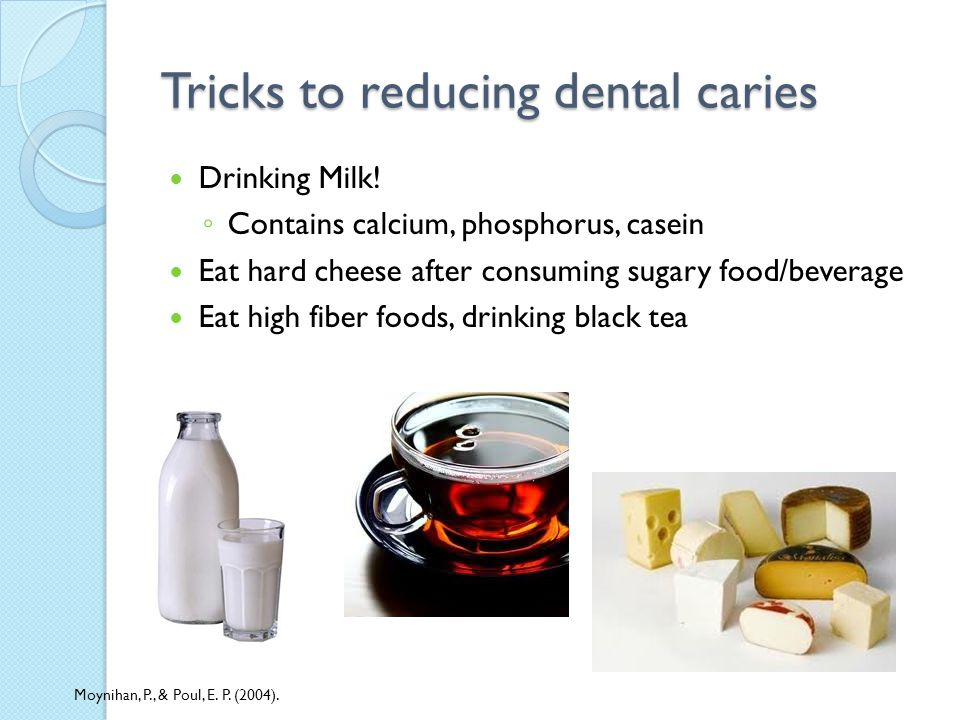 Tricks to reducing dental caries Drinking Milk.
