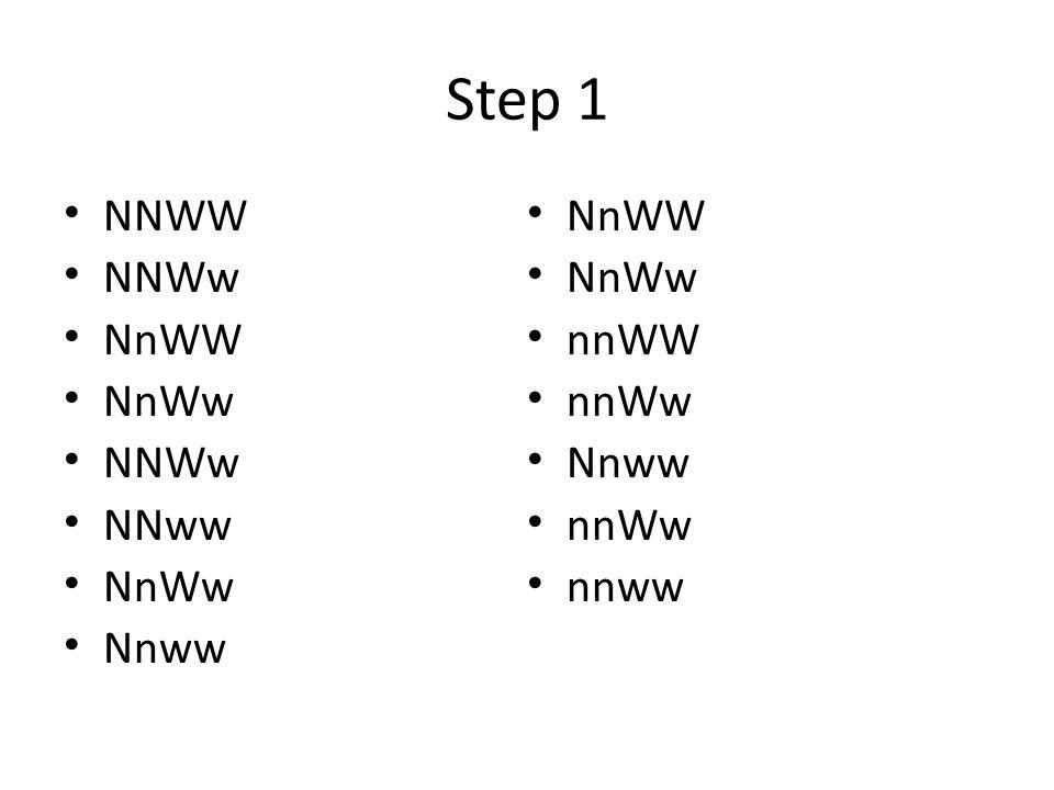 Step 1 NNWW NNWw NnWW NnWw NNWw NNww NnWw Nnww NnWW NnWw nnWW nnWw Nnww nnWw nnww