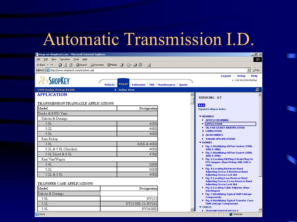 Automatic Transmission I.D.