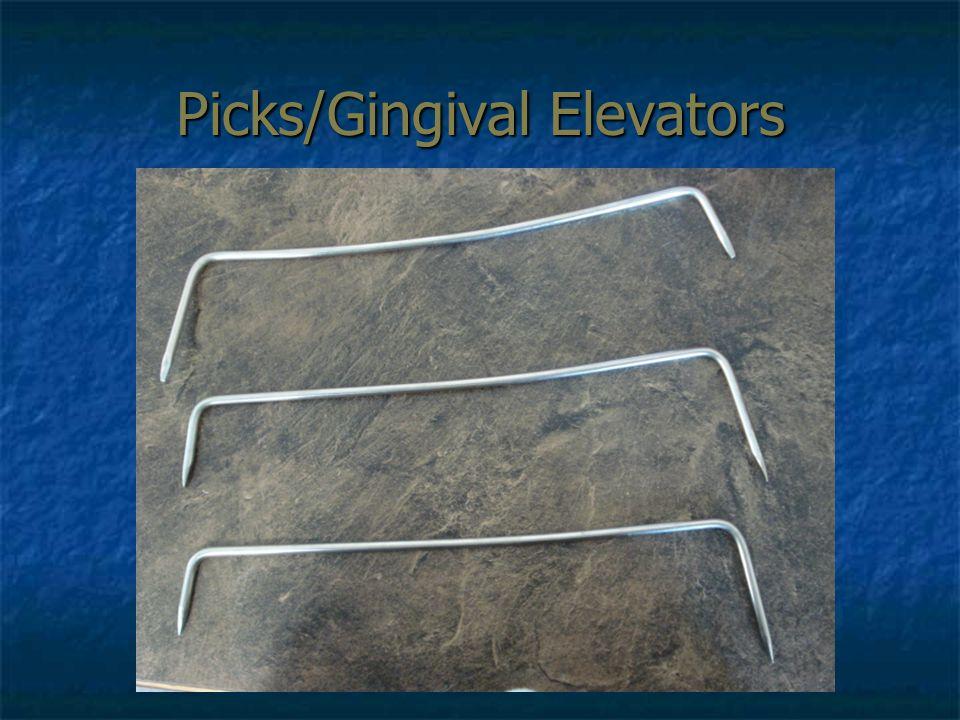 Picks/Gingival Elevators